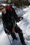 I fell face-first into 3 fee of powder. Got my crampons stuck on a branch. Kinda comical.